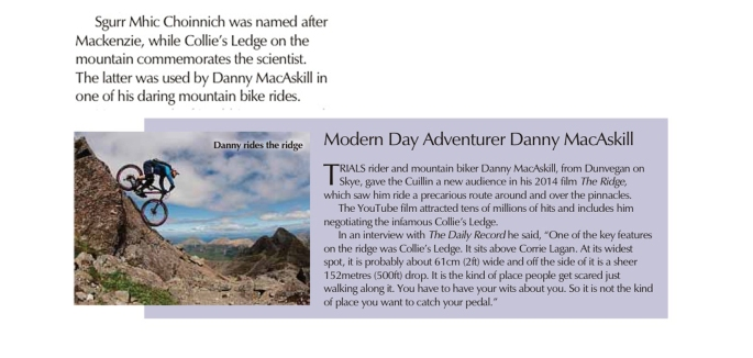 second page news MacKenzie - Collie - Danny Macaskill